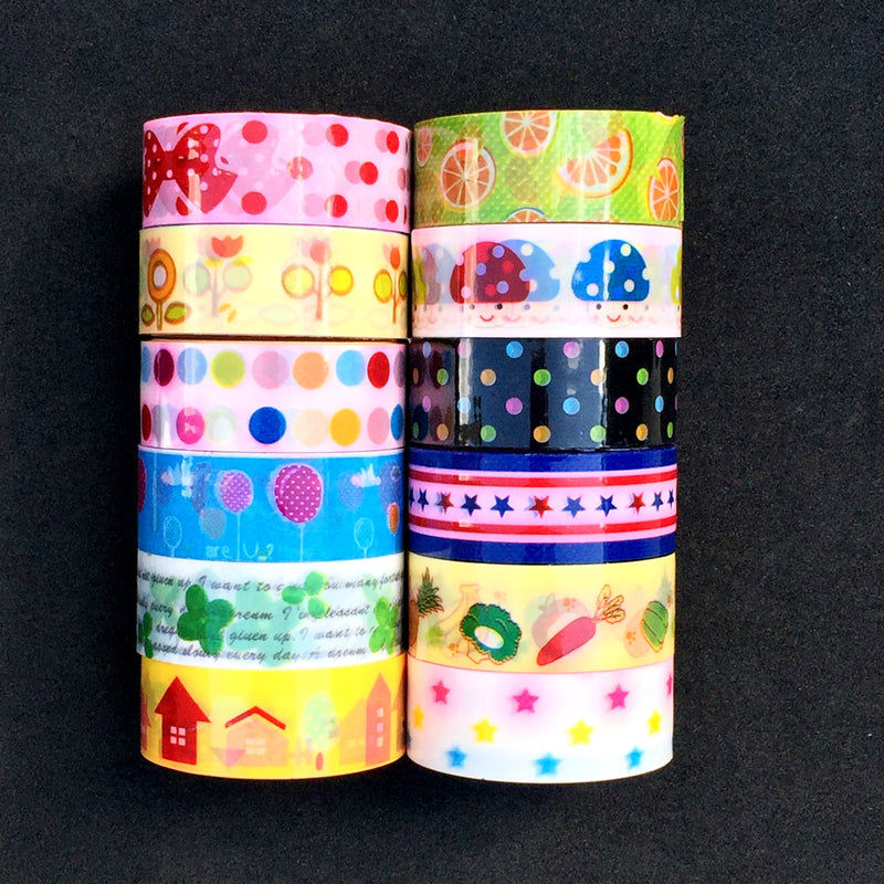 Washi Style Tape Packs Of 10 5m Rolls - bigigloo.co.uk  - 2