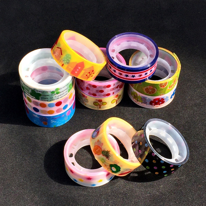 Washi Style Tape Packs Of 10 5m Rolls - bigigloo.co.uk  - 1