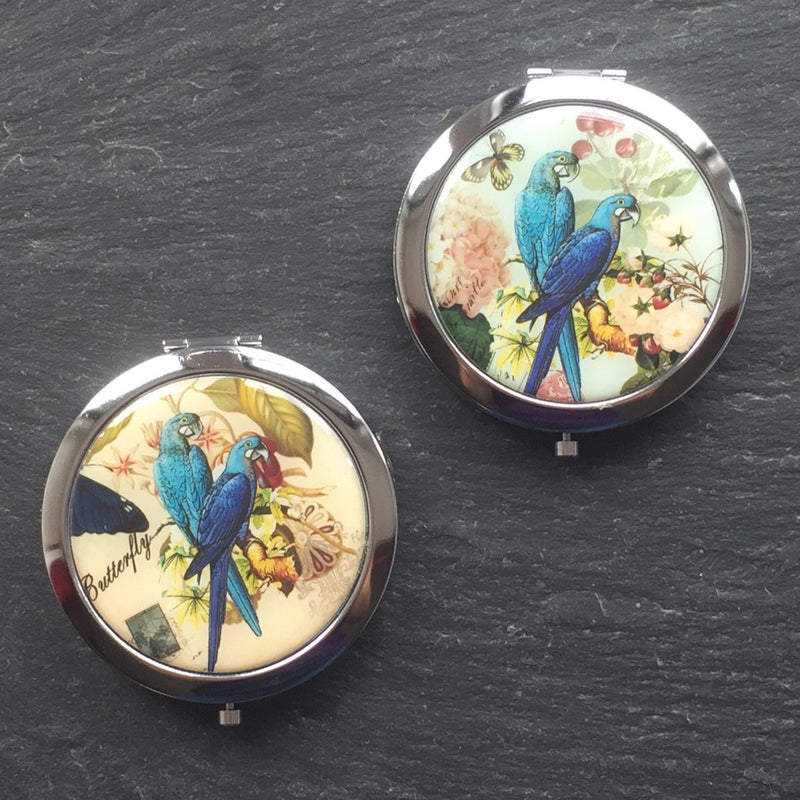 Parrots Compact Mirror - bigigloo.co.uk  - 1