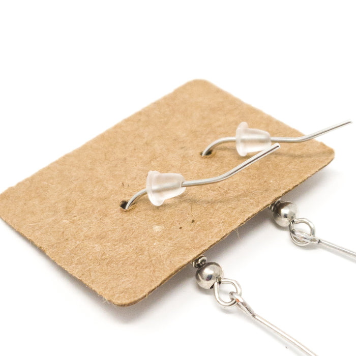 Plastic Earnuts. Packs of 100. Ear Nuts for Securing Earrings At The Back.