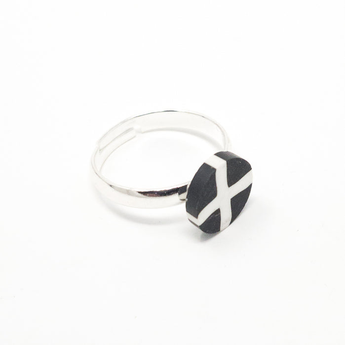 St Pirans Cornish Flag Adjustable Ring-3 Different Styles