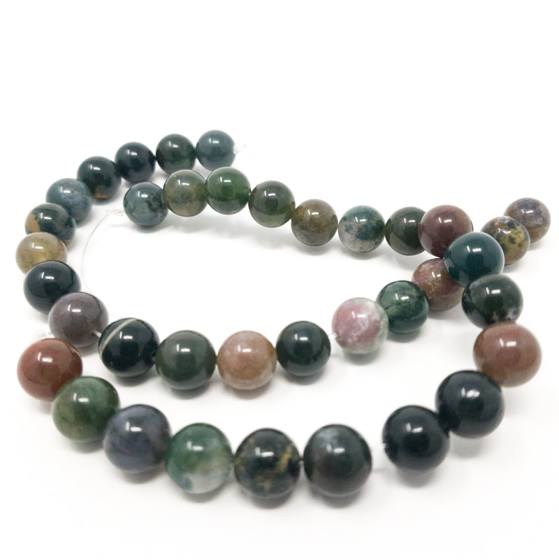 Natural Indian Agate Round Gemstone Beads. Full Strand. 6mm 8mm 10mm