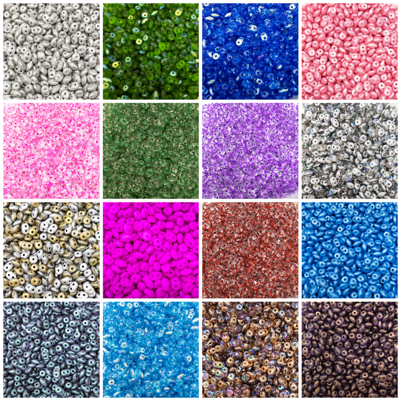CzechMates SuperDuo Beads 2/5mm 10g