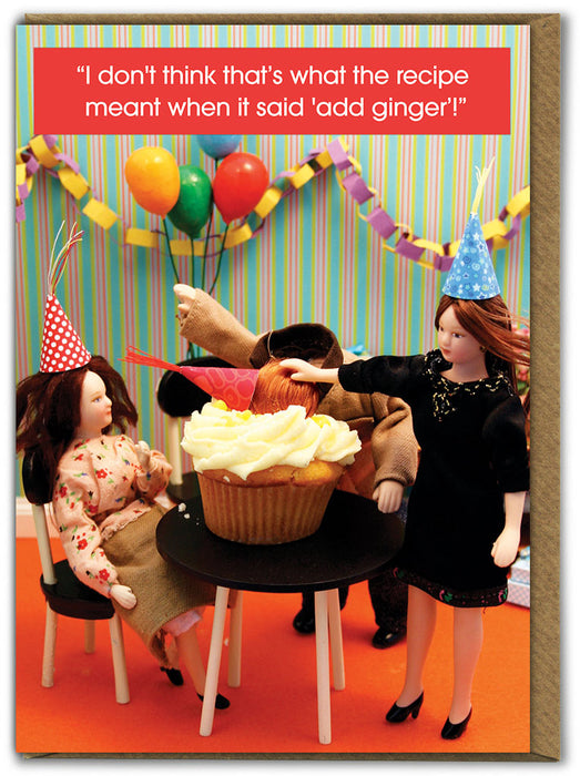 Ginger Cake Greetings Card