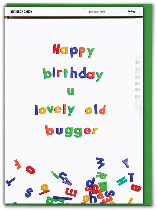Happy Birthday You Lovely Old Bugger Greetings Card