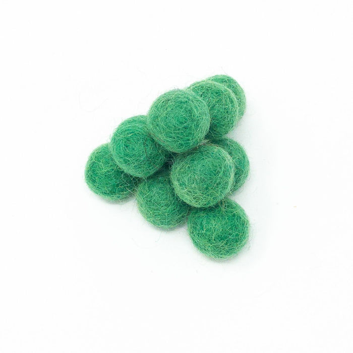 20 x Handmade Nepalese 100% Wool Felt Balls. 2cm Diameter. Choice Of Colours