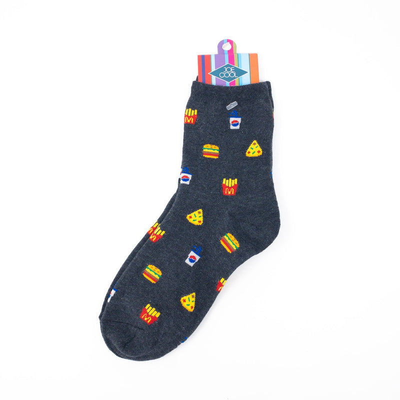 Junk Food Icon Socks. Womens' Sizes UK Size 4-7.5-Euro 35-38-US 6-9.5.