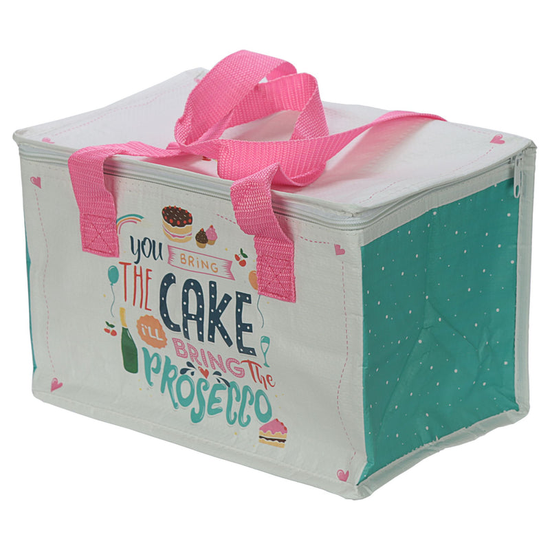 You Bring the Cake I'll Bring the Prosecco Woven Picnic Bag