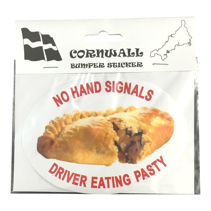 "Cornish Pasty Car Stickers. ""No Pasties Left In Vehicle.."" or ""No Hand Signals, Driver Eating Pasty"""