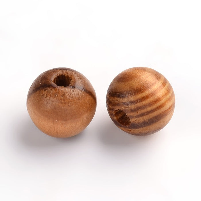 100 Burlywood Polished Grain Round Wooden Beads. 6mm, 8mm or 10mm.