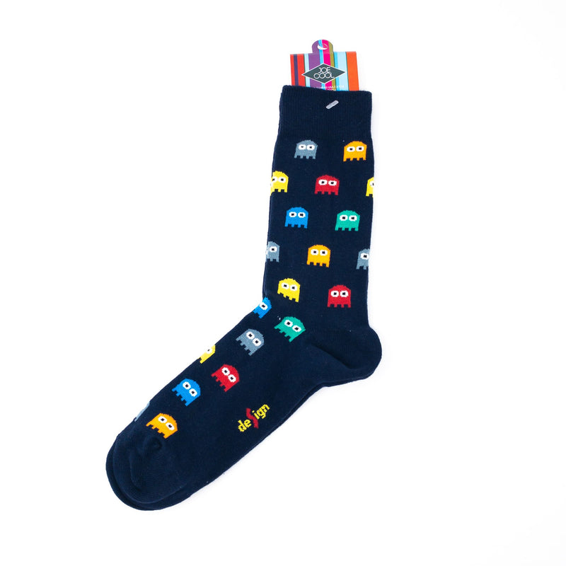 Mens' Video Game Ghost Socks. Size 8-12