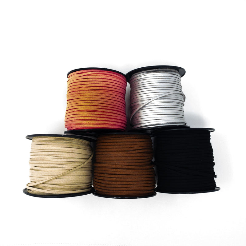 Faux Suede Cord.  3mm x 1.5mm. Sold Per Metre