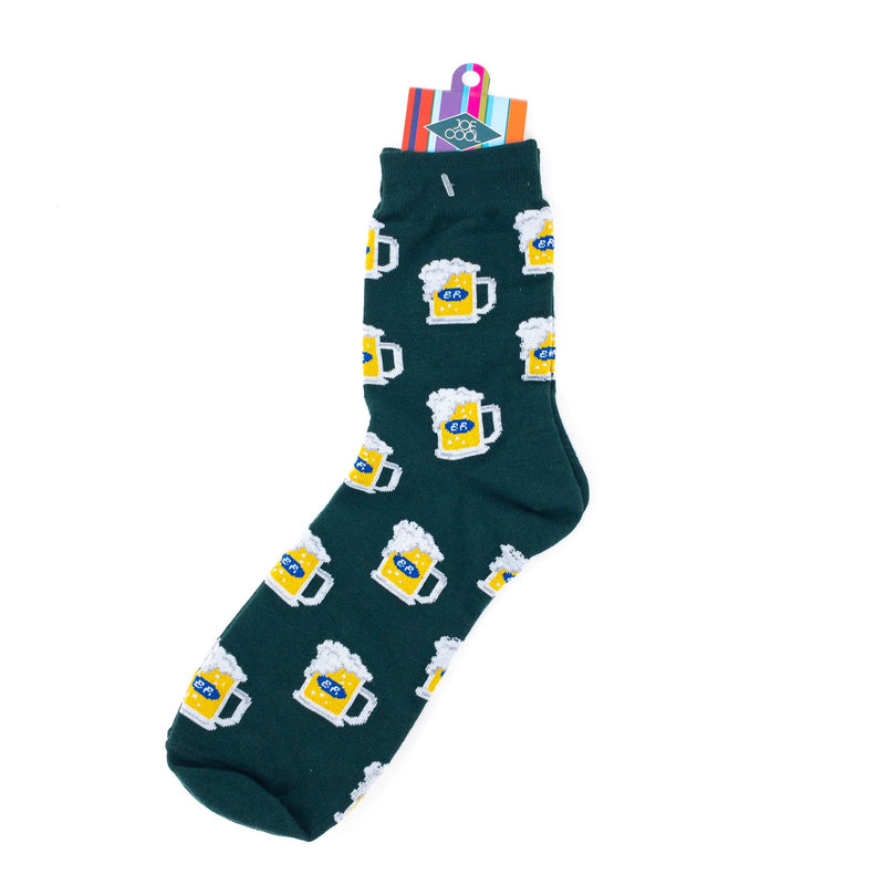 Mens' Pint Of Beer Socks. Size 8-12 UK