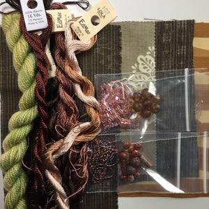 Textile art pack 10 - earthy browns