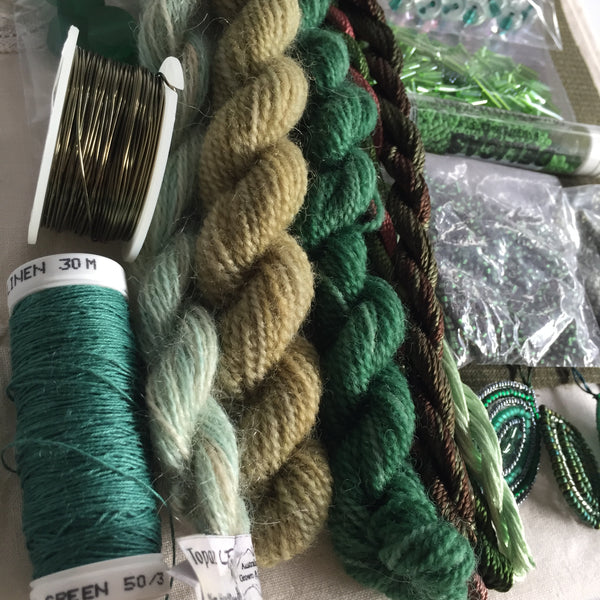 Textile art pack 8 - green