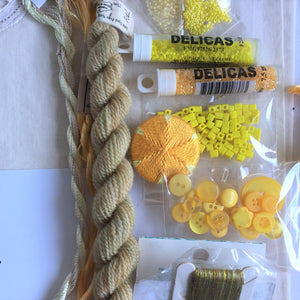 Textile art pack 1 - gold and yellow