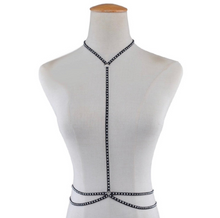 Load image into Gallery viewer, Thin Chest Harness/Body Chain with Rivet
