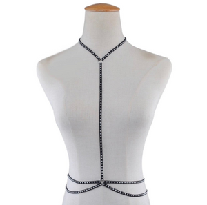 Thin Chest Harness/Body Chain with Rivet