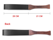 Load image into Gallery viewer, Wooden Handle Paddle with Faux Leather Strap