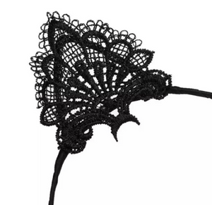 Black Lace Cat Ear Hair Band