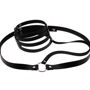 Multilayer Wide Neck Choker/Harness