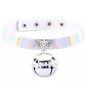 Holographic Choker with Silver Bell
