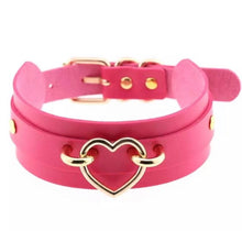 Load image into Gallery viewer, Double Layer Choker/Collar with Golden Heart