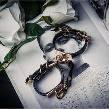 Load image into Gallery viewer, Adjustable Handcuffs with Golden Hardware