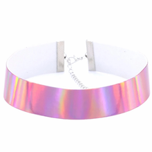 "Load image into Gallery viewer, Holographic 1"" Wide Choker/Collar"