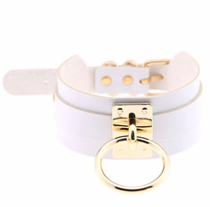 Double Layer Gold O-Ring Choker/Collar