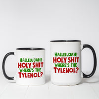 Hallelujah Holy Sh!t Christmas Vacation Themed coffee mug