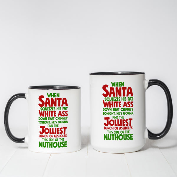 Jolliest Bunch of Assholes Christmas Vacation Themed coffee mug