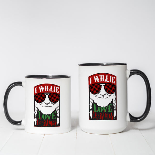 I Willie Love Christmas Themed coffee mug