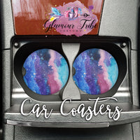 Galaxy Design Car Coasters