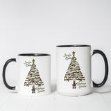 Gun Christmas Tree coffee mug