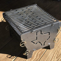 Collapsible barbecue grill fire pit <br>FREE SHIPPING within US!