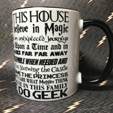 In this house we do Geek  mug