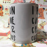 Caffeine, chaos, and cuss words mug