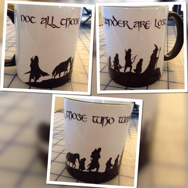 Not all those who wander are lost LOTR mug