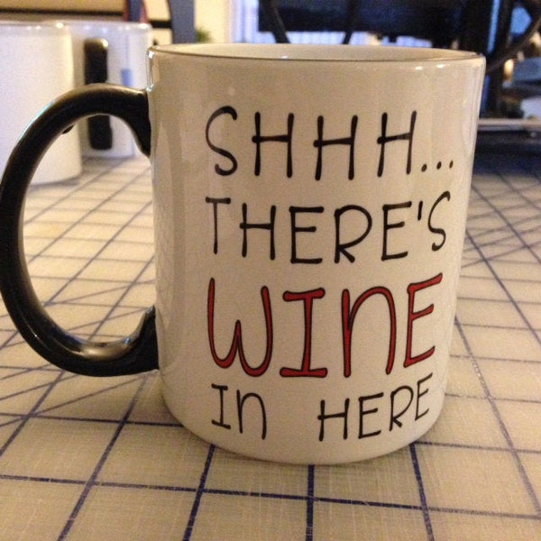 Shh... there's wine/whiskey in here mug