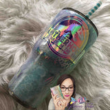 Motherhood is a Walk in the Park Opal Glitter Tumbler, milky way tumbler, bling tumbler, custom glitter tumbler, personalized tumbler, gift for mom, opal tumbler