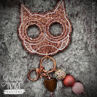 Owl Self Defense Glitter Keychain FREE SHIPPING!