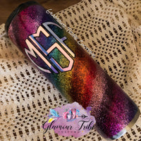 """SURPRISE ME"" Tier 2 CUSTOM ORDER Glitter Tumbler, best friend birthday gift, marble tumbler, gift for her, Mother's Day gift, Custom Glitter Tumbler, personalized tumbler, Glittered Stainless Steel Tumbler, geode tumbler, marble tumbler, bling tumbler"