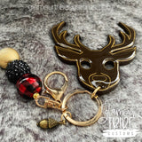 Deer Self Defense Glitter Keychain FREE SHIPPING!