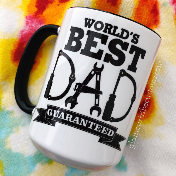 World's Best Dad Coffee Mug, gift for him, gift for Dad, Father's Day Gift