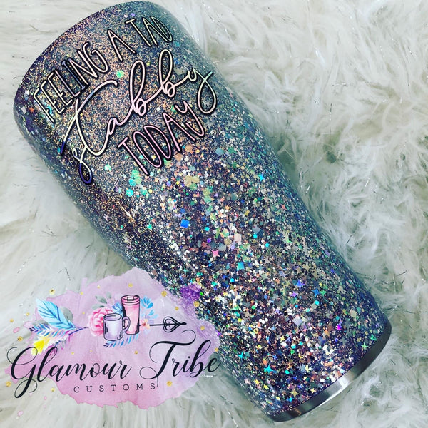 Feeling a tad stabby today glitter tumbler, funny glitter tumbler, sarcastic tumbler, work glitter tumbler, custom glitter tumbler, glittered tumbler, personalized tumbler, bling tumbler, gift for her, Mother's Day gift