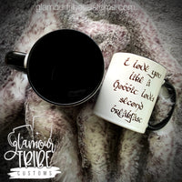 I love you like a hobbit loves second breakfast coffee mug
