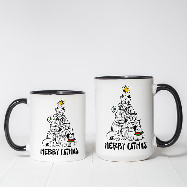 Merry Catmas Christmas Themed coffee mug