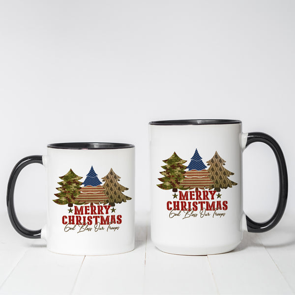 Patriotic Christmas Trees coffee mug