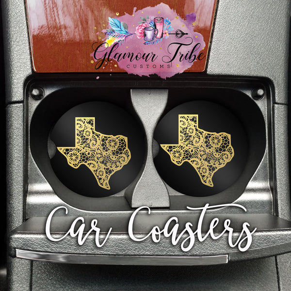 Texas Design Car Coasters